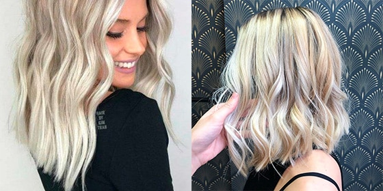 femme cheveux blond platine