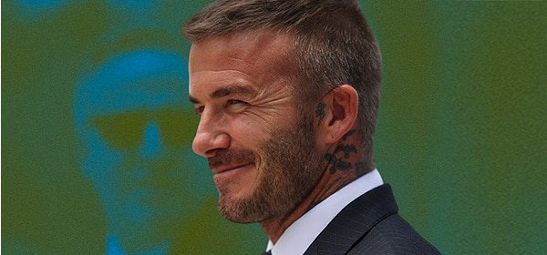 Davide Beckham buzz cut