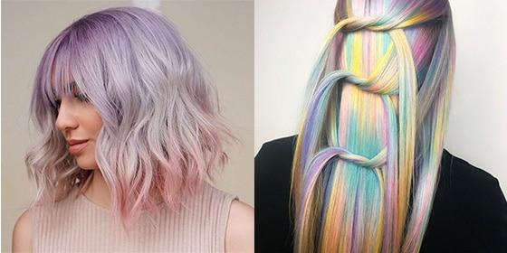 femme cheveux pastel