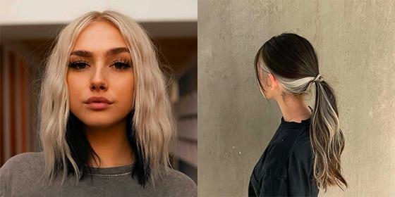 femme cheveux bicolore undercover